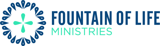 Fountain of Life Ministries Logo CMYK Two Tone Blue 72dpi